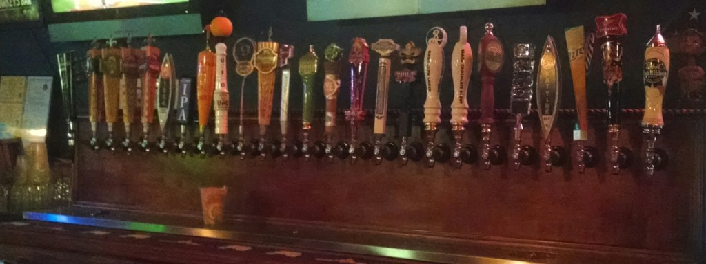 The beer taps at Markey's