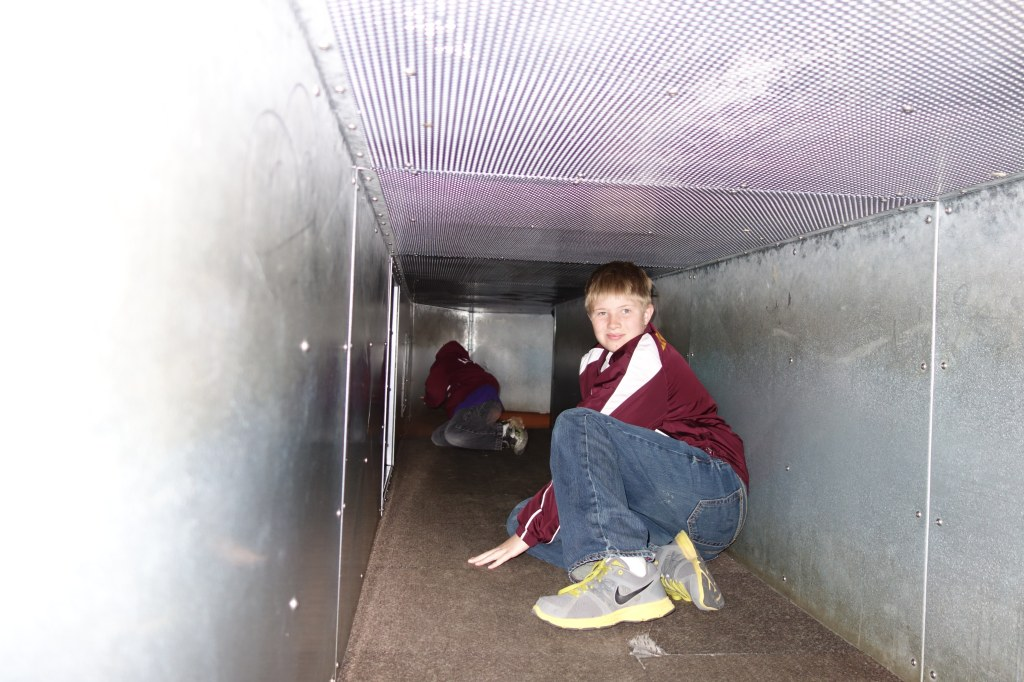 kids in tunnels