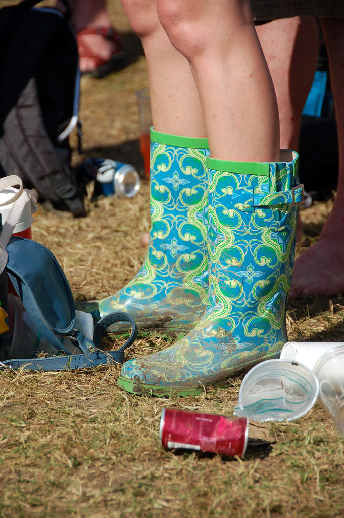 Dirty boots at Jazz Fest